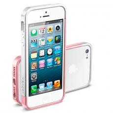 Бампер Spigen Linear EX Metal Blue для iPhone 5, 5S и SE, розовый (копия), фото 3