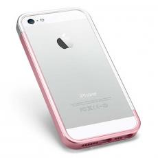 Бампер Spigen Linear EX Metal Blue для iPhone 5, 5S и SE, розовый (копия), фото 4