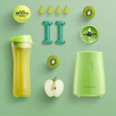 Блендер Xiaomi Qcooker Portable Cooking Machine Youth Version, зеленый, фото 2