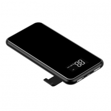 Внешний аккумулятор Baseus Power bank Wireless Charge, 2 USB-A, Micro-USB, 10000 mAh, чёрный, фото 2