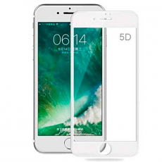 Защитное стекло 5D 9H Glass PRO для iPhone 6/6S, белый, фото 1