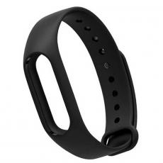 Сменный силиконовый ремешок для Хiaomi Mi Band 2, черный, фото 1