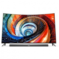 "Телевизор Xiaomi Mi TV 3S Surface 65"" Curved, чёрный, фото 1"