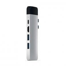 Хаб Satechi Aluminum Pro, с USB-C, серебристый, фото 5