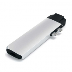 Хаб Satechi Aluminum Pro, с USB-C, серебристый, фото 2