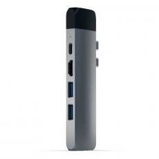 """Хаб Satechi Aluminum Pro, с USB-C, """"серый космос"""", фото 2"""