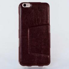 Чехол-книжка Slim Fit Horizontal для iPhone 6 Plus/6s Plus, кожаный, коричневый, фото 2
