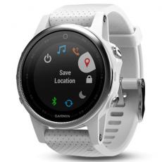 Умные часы Garmin Fenix 5S с GPS, белые с белым ремешком, фото 1
