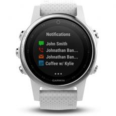 Умные часы Garmin Fenix 5S с GPS, белые с белым ремешком, фото 4