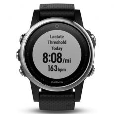 Умные часы Garmin Fenix 5S с GPS, серебристые с черным ремешком, фото 2