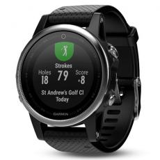 Умные часы Garmin Fenix 5S с GPS, серебристые с черным ремешком, фото 3