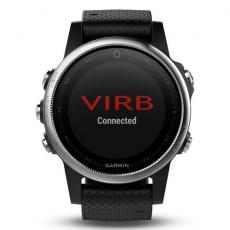 Умные часы Garmin Fenix 5S с GPS, серебристые с черным ремешком, фото 4