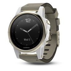 Умные часы Garmin Fenix 5S Sapphire с GPS, шампань с серым ремешком, фото 1