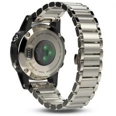 Умные часы Garmin Fenix 5S Sapphire с GPS, шампань с металл. браслетом, фото 2