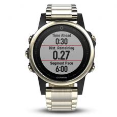 Умные часы Garmin Fenix 5S Sapphire с GPS, шампань с металл. браслетом, фото 4