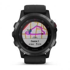 Умные часы Garmin Fenix 5x PLUS Sapphire, черные с черным ремешком, фото 2