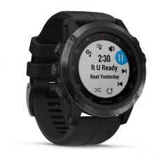 Умные часы Garmin Fenix 5x PLUS Sapphire, черные с черным ремешком, фото 3