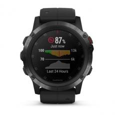 Умные часы Garmin Fenix 5x PLUS Sapphire, черные с черным ремешком, фото 4