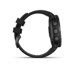 Умные часы Garmin Fenix 5x PLUS Sapphire, черные с черным ремешком, фото 5
