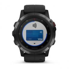 Умные часы Garmin Fenix 5x PLUS Sapphire, черные с черным ремешком, фото 6