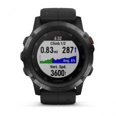 Умные часы Garmin Fenix 5x PLUS Sapphire, черные с черным ремешком, фото 7