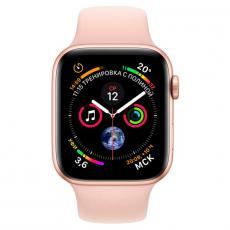 """Apple Watch Series 4, 44 мм, корпус из золотистого алюминия, спортивный ремешок цвета """"розовый песок"""", фото 2"""