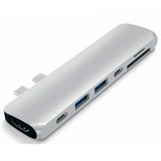 "USB-хаб Satechi Aluminum Pro Hub with Ethernet для 2016/2017 MacBook Pro 13"" и 15"", серебристый, фото 2"