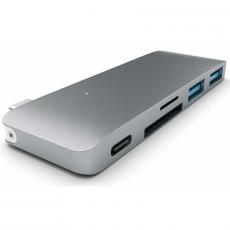 "Хаб Satechi Type-C Adapter, с USB-C, ""серый космос"", фото 1"