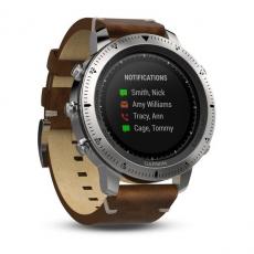 Умные часы Garmin Fenix Chronos, с кожаным браслетом, фото 2