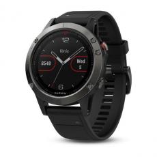Умные часы Garmin Fenix 5 с GPS, серые с черным ремешком, фото 1