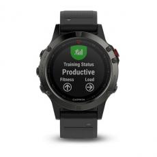 Умные часы Garmin Fenix 5 с GPS, серые с черным ремешком, фото 3