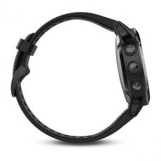Умные часы Garmin Fenix 5 с GPS, серые с черным ремешком, фото 5