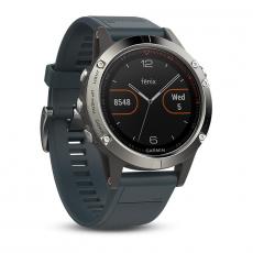 Умные часы Garmin Fenix 5 с GPS, с синим ремешком, фото 1