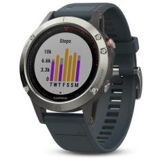 Умные часы Garmin Fenix 5 с GPS, с синим ремешком, фото 2