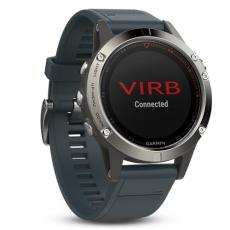 Умные часы Garmin Fenix 5 с GPS, с синим ремешком, фото 4