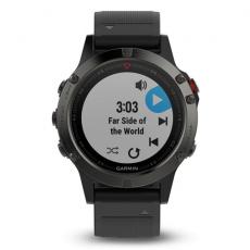 Умные часы Garmin Fenix 5 с GPS, серые с черным ремешком и нагрудным пульсометром, фото 4