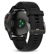 Умные часы Garmin Fenix 5 с GPS, серые с черным ремешком и нагрудным пульсометром, фото 5
