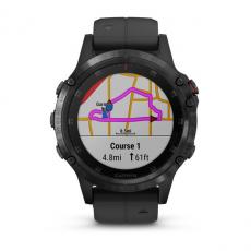 Умные часы Garmin Fenix 5 PLUS Sapphire, черные с черным ремешком, фото 2