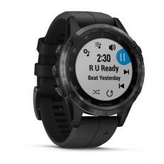 Умные часы Garmin Fenix 5 PLUS Sapphire, черные с черным ремешком, фото 3