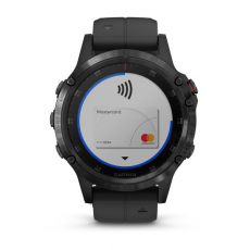Умные часы Garmin Fenix 5 PLUS Sapphire, черные с черным ремешком, фото 4
