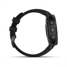 Умные часы Garmin Fenix 5 PLUS Sapphire, черные с черным ремешком, фото 5