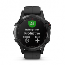 Умные часы Garmin Fenix 5 PLUS Sapphire, черные с черным ремешком, фото 7
