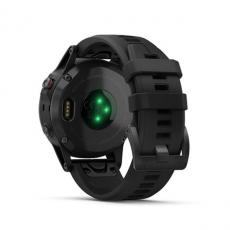 Умные часы Garmin Fenix 5 PLUS Sapphire, черные с черным ремешком, фото 8
