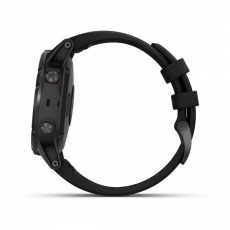 Умные часы Garmin Fenix 5 PLUS Sapphire, черные с черным ремешком, фото 9