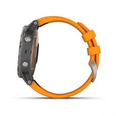 Умные часы Garmin Fenix 5 PLUS Sapphire, титан с оранжевым ремешком, фото 9
