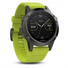 Умные часы Garmin Fenix 5 с GPS, с желтым ремешком, фото 1