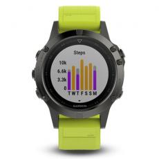 Умные часы Garmin Fenix 5 с GPS, с желтым ремешком, фото 2