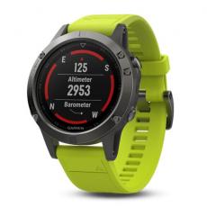 Умные часы Garmin Fenix 5 с GPS, с желтым ремешком, фото 3