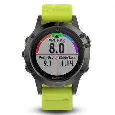 Умные часы Garmin Fenix 5 с GPS, с желтым ремешком, фото 4