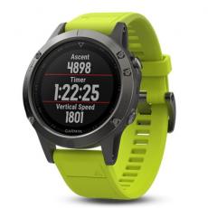 Умные часы Garmin Fenix 5 с GPS, с желтым ремешком, фото 5
